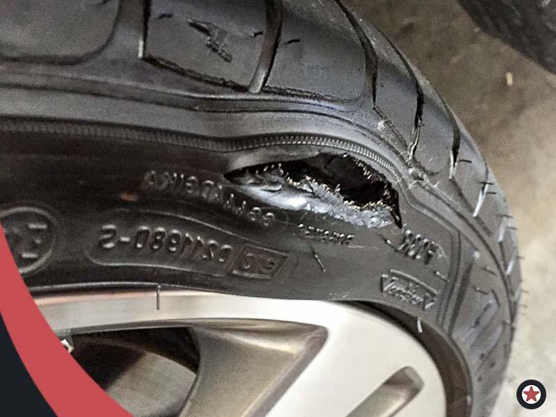 Картинка боковой порез шины