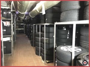 Фото хранение шин на стеллажах Мосгоршина картинка