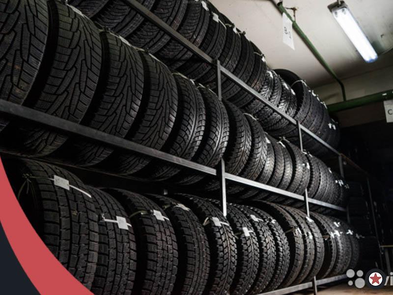 Картинка хранение шин на стеллажах МосГорШина