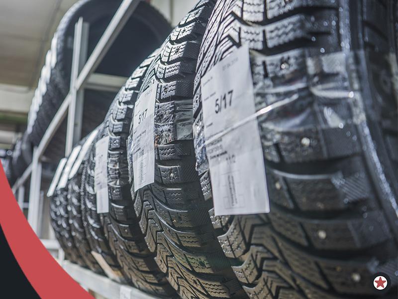 Картинка хранение шин на стеллаже справа МосГорШина